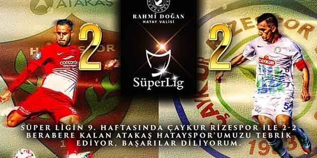 Vali, Hatayspor ve Sivasspor'u Kutladı