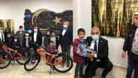 Şehit çocuklarına bisiklet