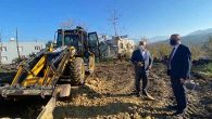 Arsuz'da, prefabrik evi fırtınada uçan ailenin evi yapılıyor