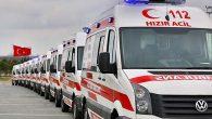 Hatay'a 35 Ambulans