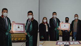 Antakya'da 6 genç hukukçu avukat cübbesi giydi