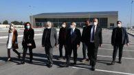 AKP heyeti, stadyum ve spor salonunda