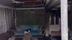 Zabıta memurunun evi yandı