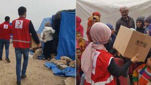 Kızılay Gıda Kolileri Suriye Sınırındaki  Mültecilere