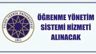 Öğrenme Yönetim Sistemi Hizmeti Alınacak