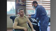 Alay Komutanı Aşı Oldu