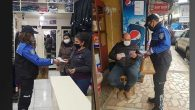 Polis, Esnafa Broşür Dağıttı