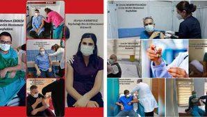 Sağlıkçılarda 2.doz Aşı Sürüyor