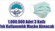 1.000.000 Adet 3 Katlı Tek Kullanımlık Maske Alınacak