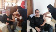 Samandağ'da 2 üst yönetici KOVİD Aşısı oldu