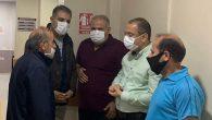 Güzelmansur, kazazedeleri hastanede ziyaret etti.