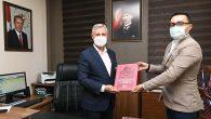 BİK Müdürü Parlak ziyareti Antakya Belediyesine