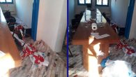 DEVA Hassa ilçe binasına saldırı