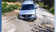 Açıkdere'de çöken yol