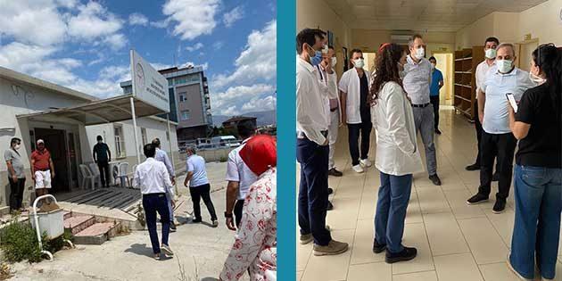 Hastane ek binasında kontroller