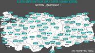 Türkiye'de Koronavirüs Vaka Haritası