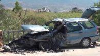 Karaağaç'ta 2 otomobil çarpıştı