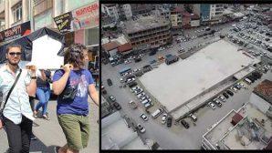 Samandağ'da betonlaşmayı protesto amaçlı;