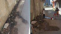 Kanal suyu sokağa akıyor