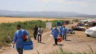 Tarım İşçileri Tarlada Aşılandı