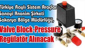 Valve Block-Pressure Regülatör Alınacak