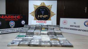 Hatay'da 176.6 Kg Kokain  Ele Geçti