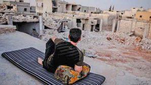 Hatay'a komşu Suriye kentinde