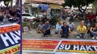 Samandağ'da günlerdir Su'suzluğa karşı eylem var