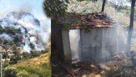Evlere sıçrayan yangın korkulu anlar yaşattı