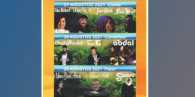 Defne Festivali 27-28-29 Ağustos'ta