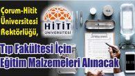 Tıp Fakültesi İçin Eğitim Malzemeleri Alınacak