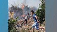 Arsuz ormanlık alanda trafo patladı
