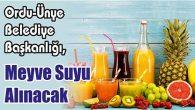 Meyve Suyu Alınacak