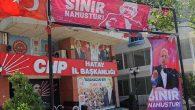 CHP Hatay İl Binasına Asıldı