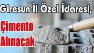 Çimento Alınacak