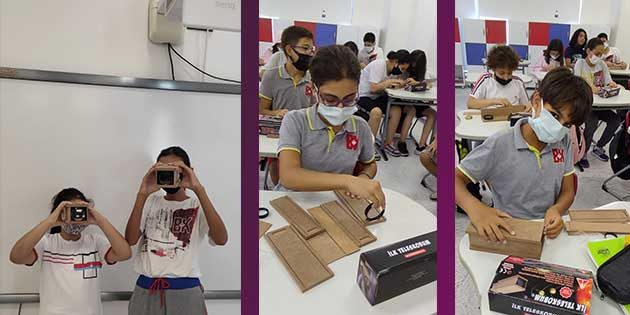 Bahçeşehir Öğrencileri Teleskop yaptı
