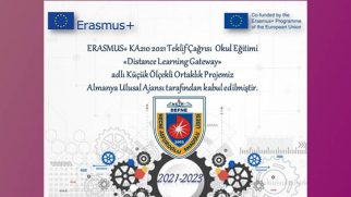 N.Asfuroğlu A.L.'ye Erasmus Proje Kabulü
