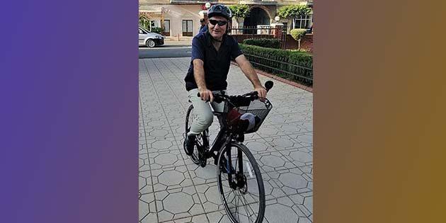 Kaymakam, bisikletiyle…