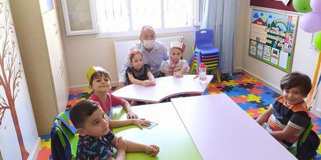 Müftü, 4 yaş kur'an kursu öğrencileriyle